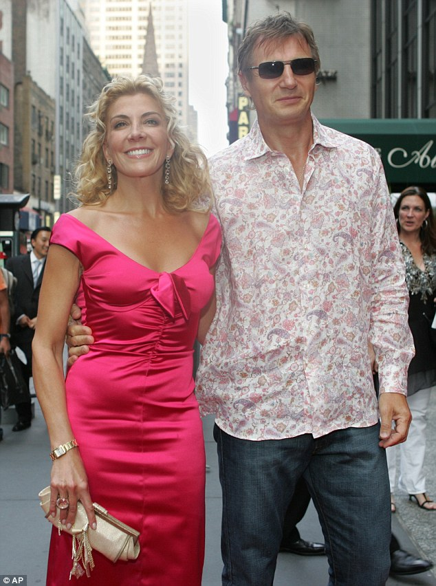 Wife and mother: Richardson was married to Neeson for 14 years before she died tragically at the age of 45