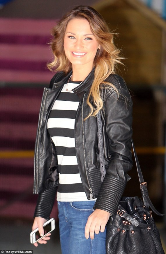 Sam looked fabulous at the ITV studio today for her This Morning appearance