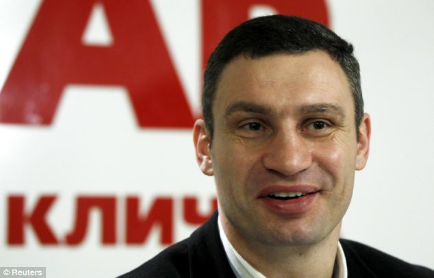 Political heavyweight: Ukrainian opposition leader and head of the UDAR (Punch) party Vitaly Klitschko has revealed he will run for the presidentcy