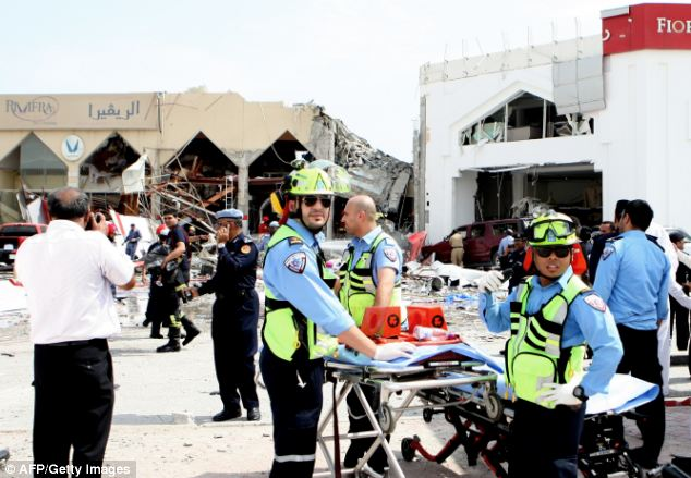 Deadly: A security source added that at least two Asian children are believe to have died and said investigations continue to look into what caused the gas tank to explode