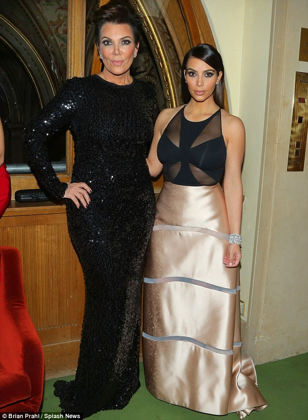 Up for grabs? Kim was reportedly unhappy after a man asked her to dance at the Vienna Ball on Thursday