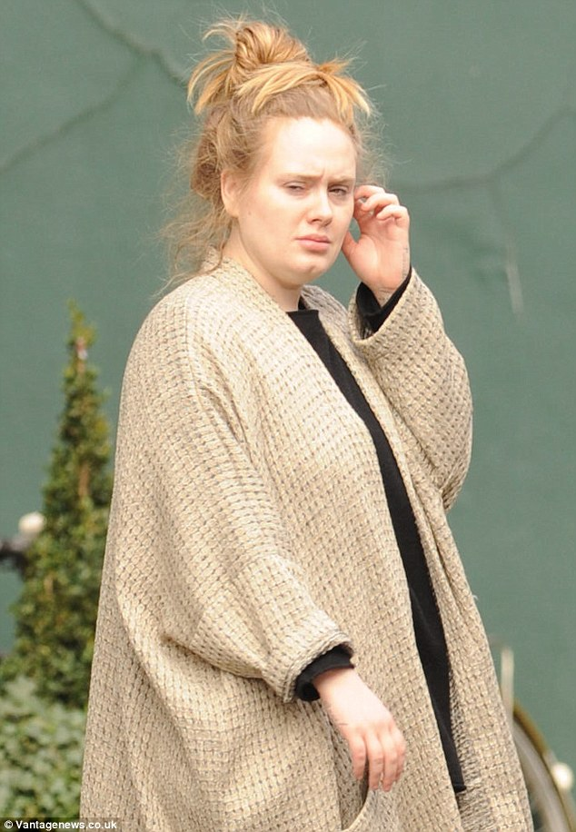 Adele Cuts A Bed Head Figure In West London Looking Tired