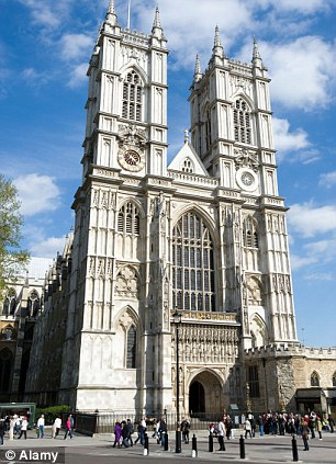 Honour: The service today at Westminster Abbey will be the first for a foreigner