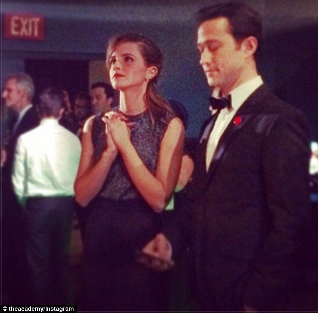 Exit stage right: Emma Roberts and Joseph Gordon Levitt did not have far to run if they had a panic attack backstage