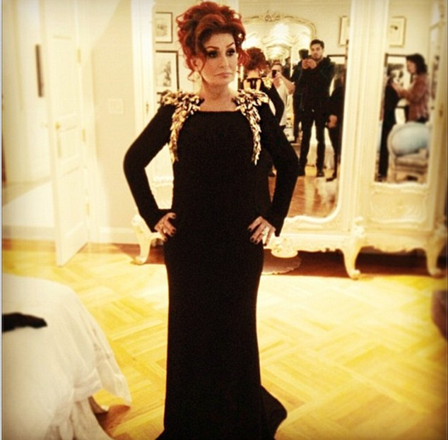 At least she won't get slated: Her Fashion Police star daughter Kelly would know better than to poke fun at Sharon Osbourne's outfit