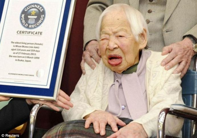 Misao Okawa, 115, will turn 116 on Wednesday and she is the world's oldest person
