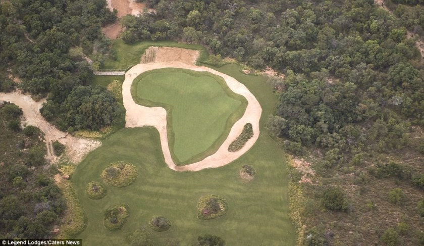Image result for The Extreme 19th is the world's longest Par 3, measuring 391 yards, and challengers can only access the tee by helicopter.