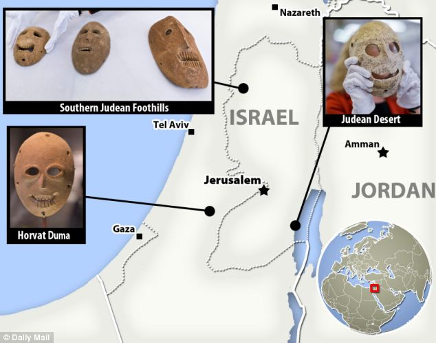The Israel Museum has had two of the masks in its collection for years. One was found in a cave at Nahal Hemar in the Judean Desert (pictured) and the other from Horvat Duma in the nearby Judean Hills