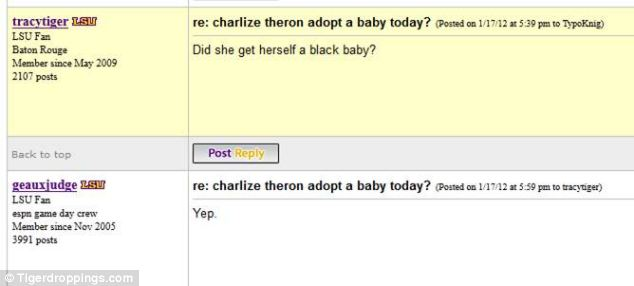 Offensive: He provided the details about her adoption in January 2012 - 2 months before it was public