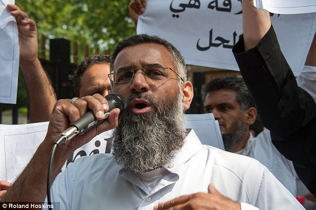 Connection: Friends said Bary - an aspiring rapper on the 'grime' music scene - grew increasingly radical and violent after mixing with thugs linked to hate preacher Anjem Choudary (pictured)