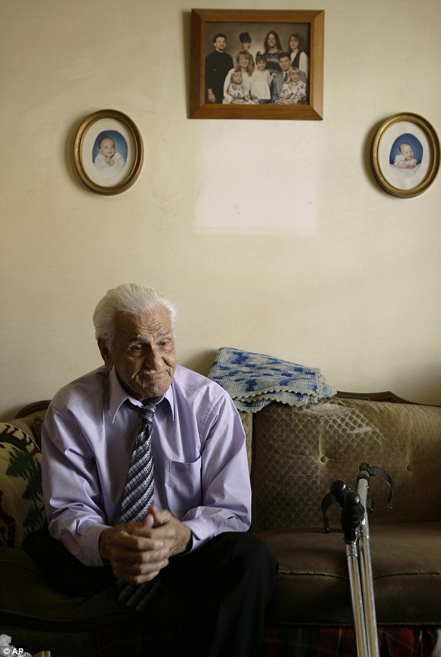 William Wild Bill Guarnere conducts an interview at his home in Philadelphia in September 2007
