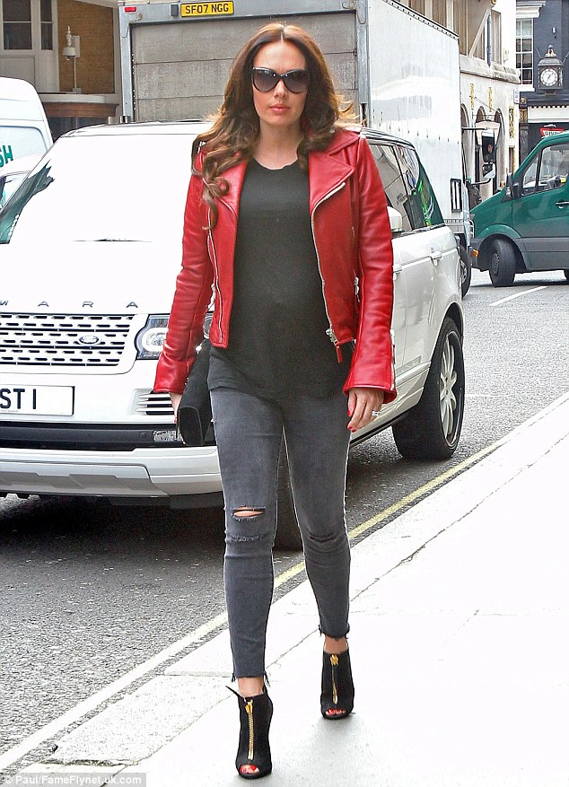 Treating herself: Tamara was pictured heading to Cecconi's restaurant in London on Monday