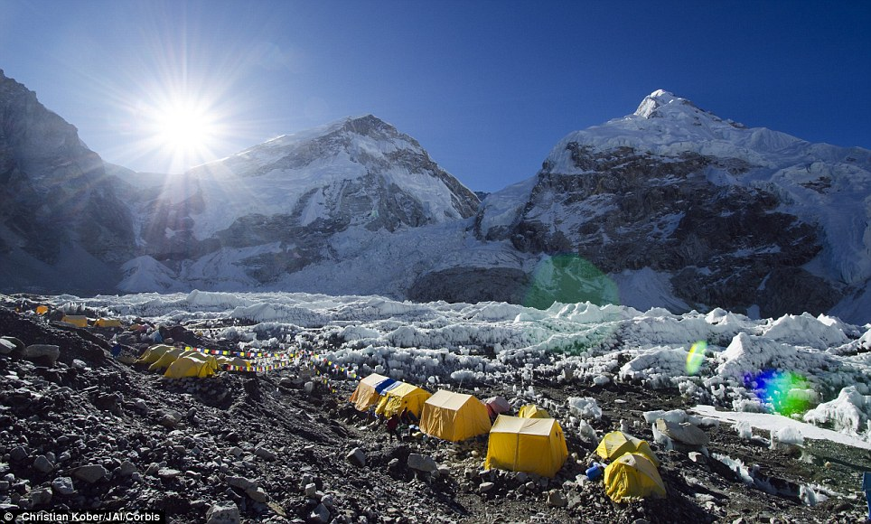 Pitch your tent: Everest Base Camp sits at an altitude of more than 5,000 metres