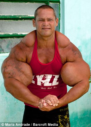 Mr de Souza is nicknamed 'The Mountain' in his hometown of Olinda, on the coast of Brazil's Pernambuco state