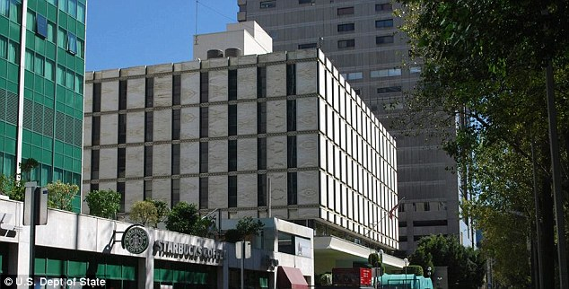 Discovered: The US Embassy in Mexico City confirmed that Jeffrey Corzine was found dead in a Mexico City hotel 'several days' ago
