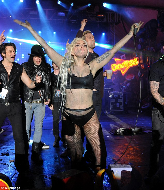 Dirty performance: Lady Gaga, shown performing on Thursday at SXSW, had to clean up after a messy gig