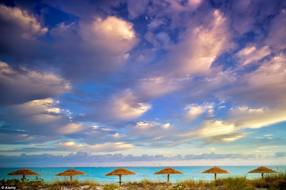 Postcard-pretty: Grace Bay, in Turks and Caicos, has been named the second most amazing beach in the world