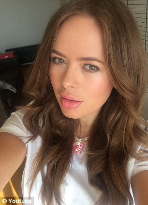 Selfie tips: Tanya Burr has created a range of lipglosses and nail varnishes about to hit Superdrug on the back of her YouTube success