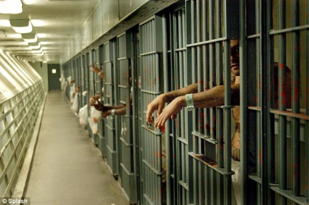 Notorious:  Men¿s Central Jail in downtown Los Angeles houses some of the city¿s most violent gangster and criminals