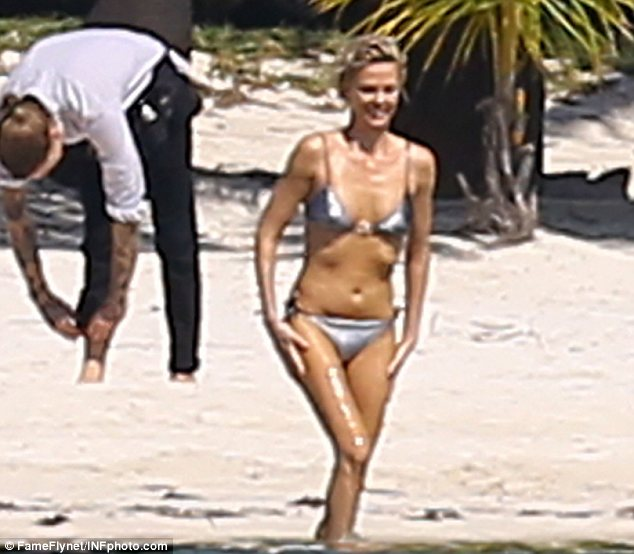Charlize Theron Shows Off Her Toned Physique As She Rides