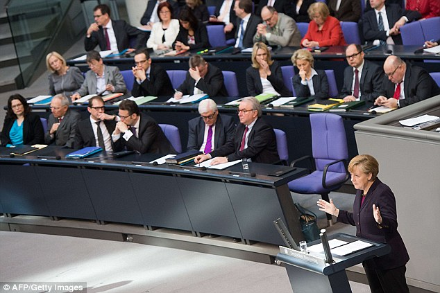 The G8 is dead': German Chancellor Angela Merkel tells the lower house of parliament in Berlin the G8 forum has been suspended indefinitely