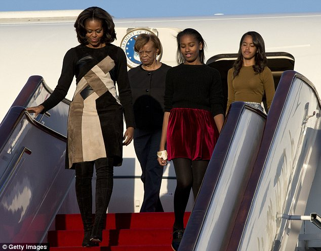 First lady Michelle Obama, her mother Marian Robinson, and her daughters Sasha and Malia are in Beijing for the beginning of a week-long tour, and their hotel's staff are already tired of them