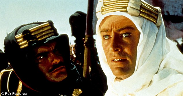 Peter O'Toole (right) starred as Lawrence of Arabia in the 1962 film as the officer who disrupted supply routes