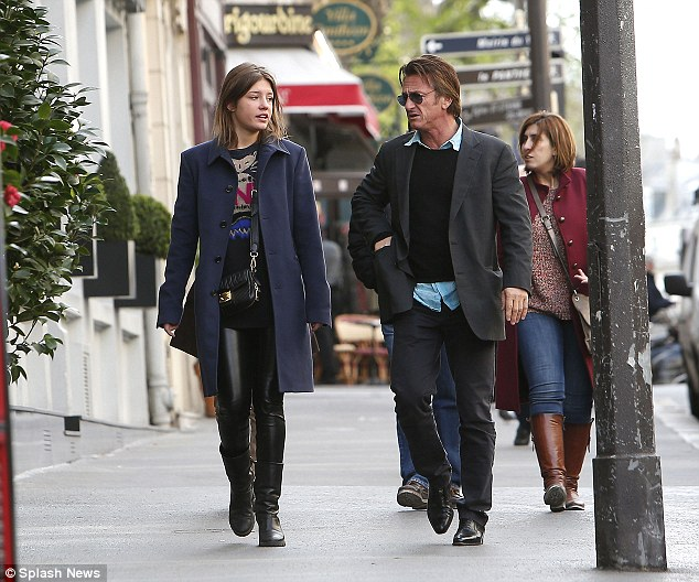 Sean Penn Dines Out With Parisian Actress Adele