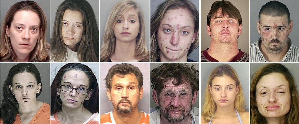 Ravaged by drugs: Shocking before and after pictures ...