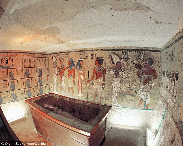 Famous discovery: The tomb of Tutankhamun, buried in 1325 B.C., was discovered by Howard Carter in 1922