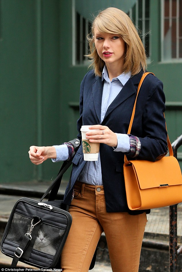 Taylor Swift Unleashes Her Inner Tomboy In Tailored Blazer As She Steps Out With Her Pet Cat In