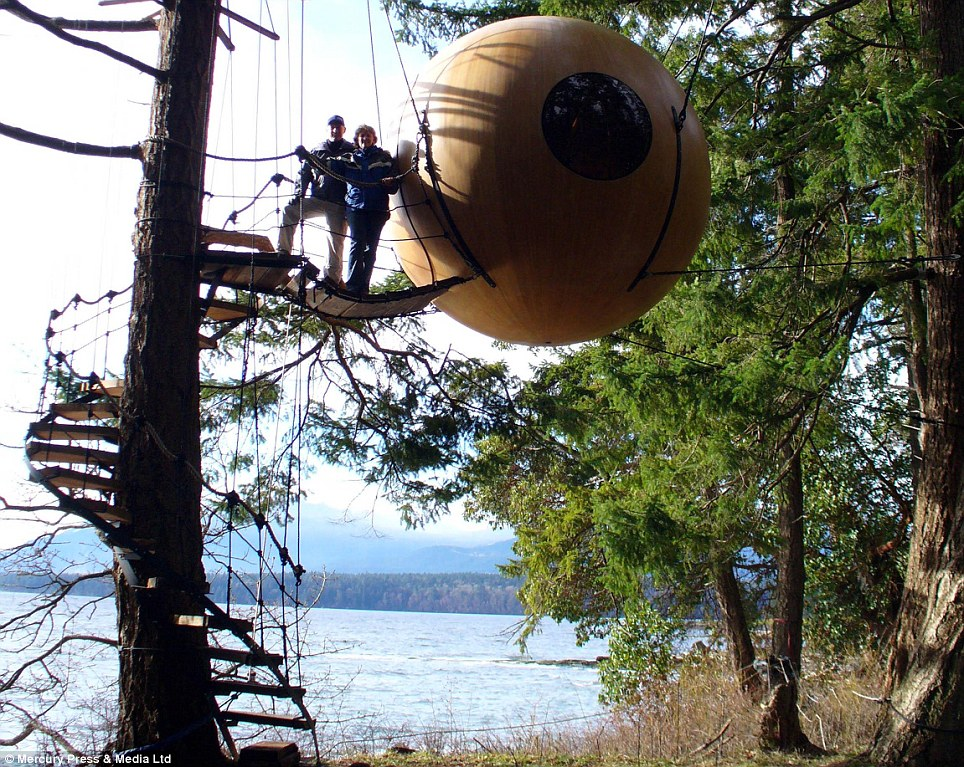 Is This The World S Best Treehouse The Floating Orbs