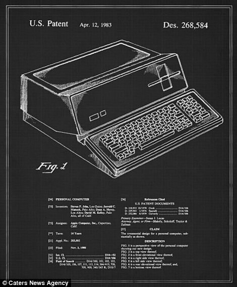 It is hard to believe that Apple's first personal compute, which was patented in 1983, led to the development of the company's super slim offerings like the iPad and MacBook Air today