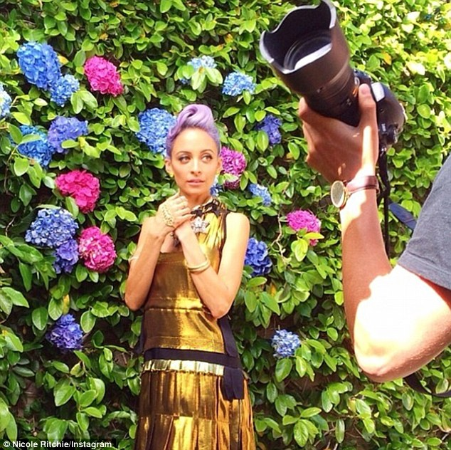 Nicole Richie Swings Into Action On Paper Magazine Photo