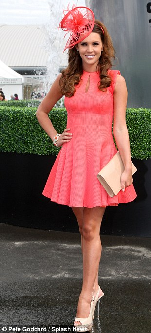 Stalwart: Danielle O'Hara is a regular at Aintree and looked lovely in her coral pink dress