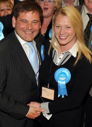 :Andrew Bridgen with wife Jackie