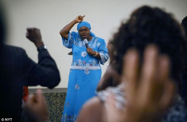 Campaigners are urging for Helen Ukpabio, known as 'Lady Apostle', to be deported and banned from returning to the UK on the grounds her preaches are harmful to the public