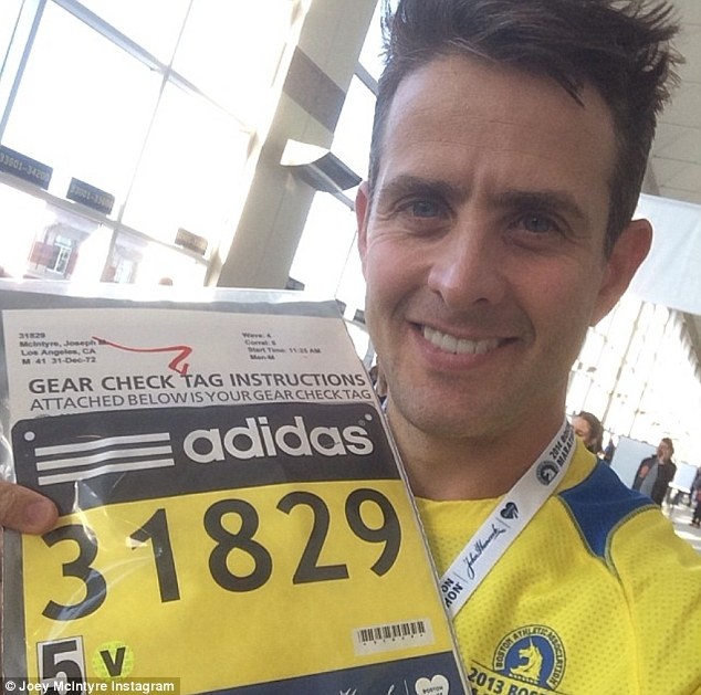 Watch out for me: Some 36,000 runners took part in the race and on Saturday the rocker picked up his number and shared the moment on Instagram