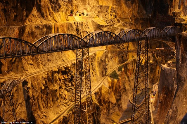 Tunnels and intricate bridges are everywhere crossing each other on multiple levels