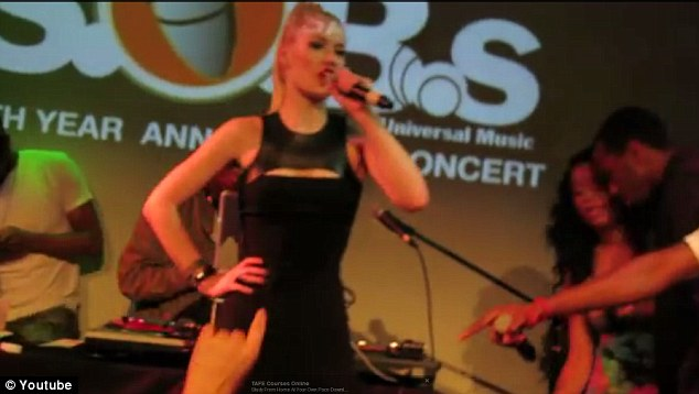 Iggy Azalea performs on stage at the Beatdown event on May 2012, when she famously tripped into the crowd