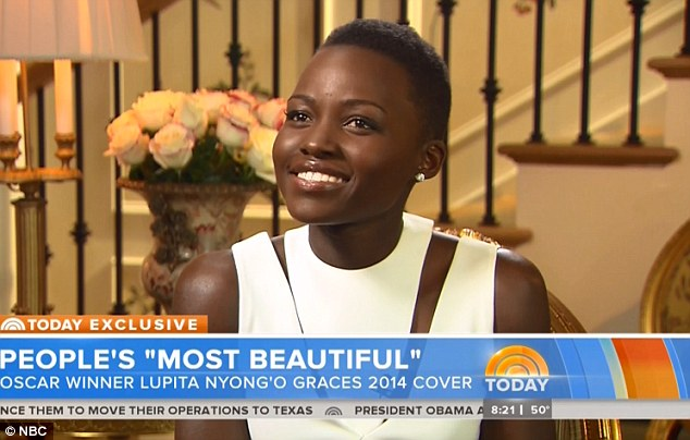 What a star: Lupita was very humble about her new title and being told she was the Most Beautiful person