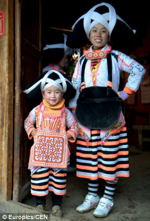 Although there are now less than 5,000 people in the Miao minority, the strong tradition carries on