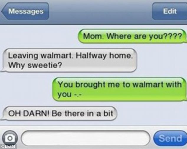 Where are you? Meanwhile, another woman seemingly forgets she has taken her child to Walmart with her