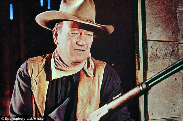 Big gun of Hollywood: John Wayne epitomised masculinity such as in the 1965 hit The Sons of Katie Elder