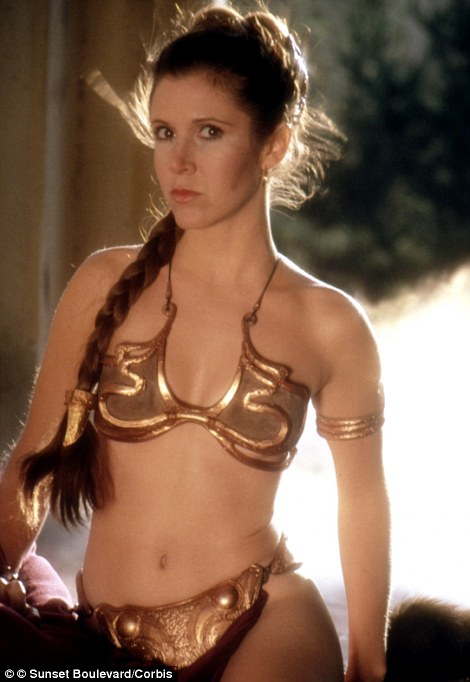 she became a pinup thanks to the franchise carrie as princess leia in