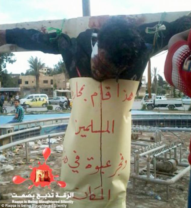 The Syrian Observatory for Human Rights said they were not the first crucifixions by ISIL