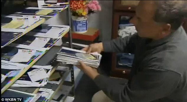 Information gathering: Rick Krlich has collected mountains of evidence (pictured), including surveillance of vehicles honking based, which he has forwarded to police and used in his lawsuits