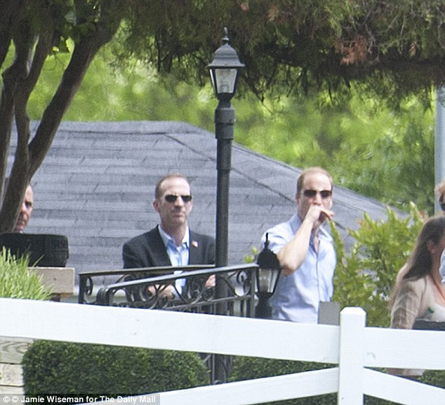 Prince William was alone for the tour as sadly his wife is not with him on the trip to Memphis