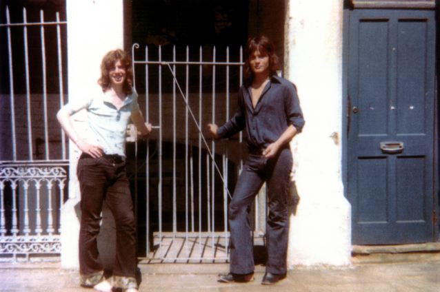 Rockin' politico: Tony Blair (left) and his friend Alan Collenette outside the Vineyard in Richmond in 1972. Mr Blair is showiong his bohemian side by eschewing shoes