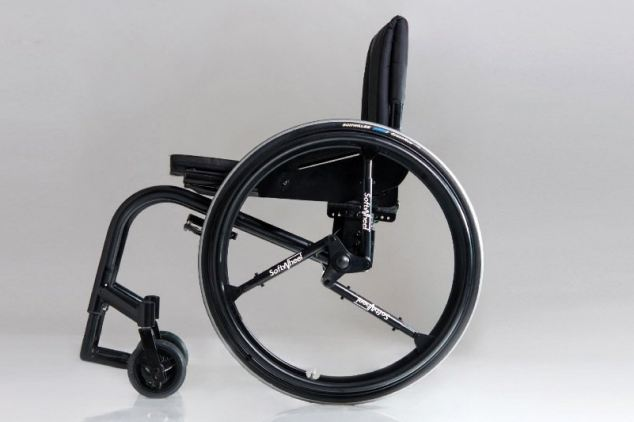 The Acrobat wheelchair, which shows off the unique design